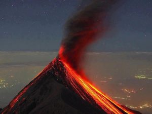 volcano of fire volunteer in Latin America Guatemala
