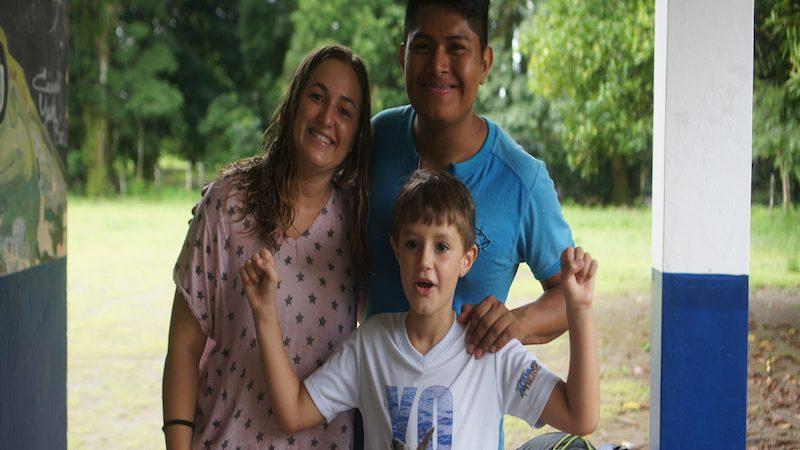 viaje en familia de voluntariado