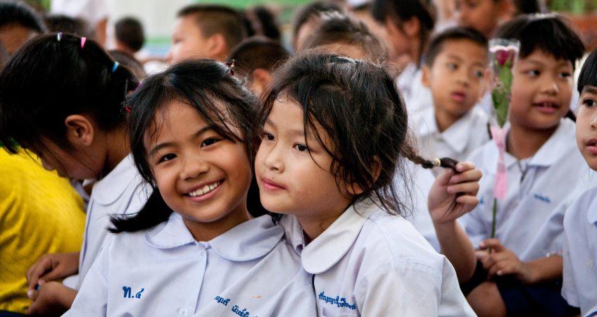 enseñanza de inglés a niños ne tailandia