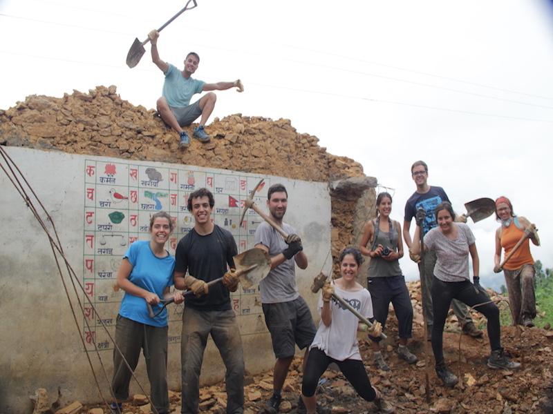 reconstrucción en nepal