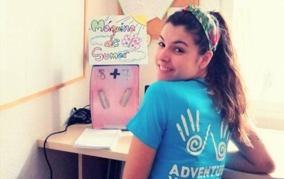 Laura de voluntariado internacional a virtual