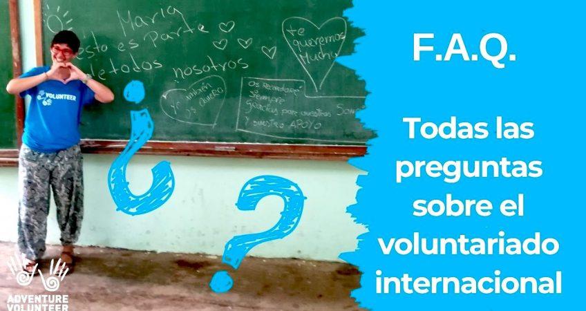 información sobre el voluntariado internacional